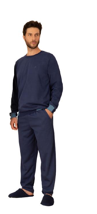 Pijama Masculino Inverno Azul Marinho Pzama