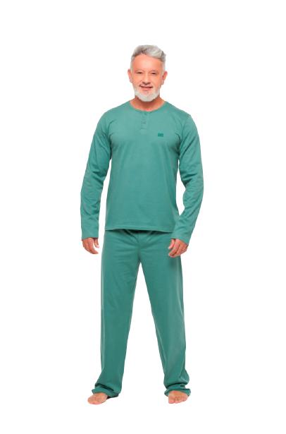 Pijama Masculino Inverno c/ Abertura de Botões Sonhart