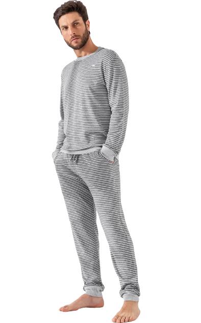 Pijama Masculino Inverno Listrado MIXTE