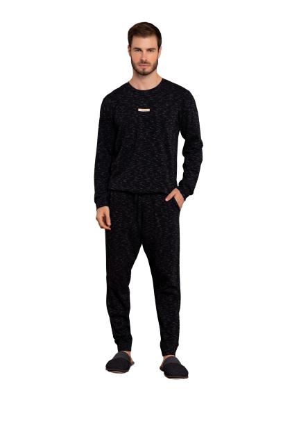 Pijama Masculino Inverno Naps Preto Lua Luá