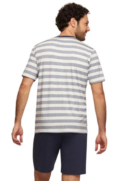 Pijama Masculino Listrado Azul ECO Recco