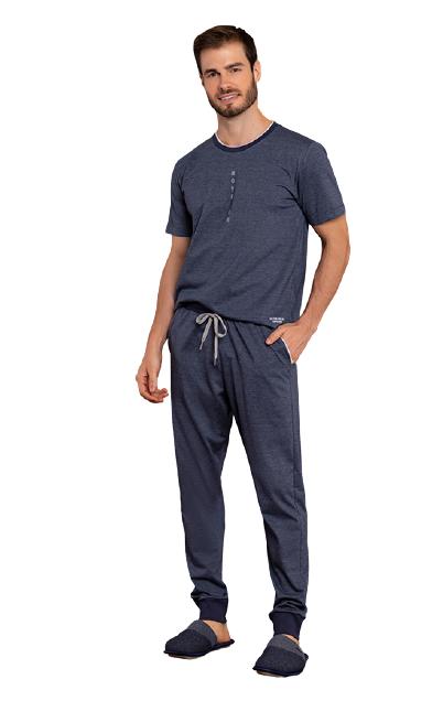 Pijama Masculino Outono Azul Move On Lua Luá