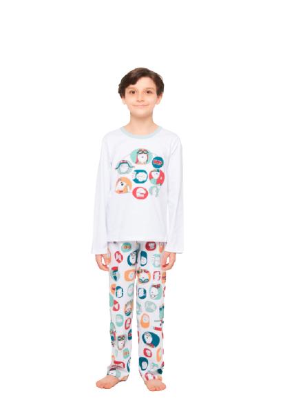 Pijama Menino Infantil Divertido Sonhart 100% Algodão