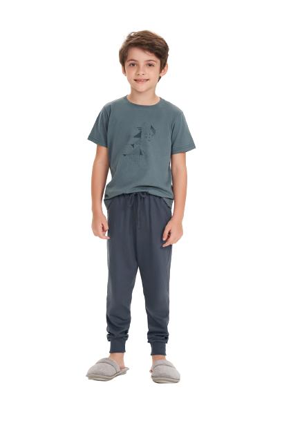 Pijama Menino Infantil Inverno Pai e Filho Cor com Amor