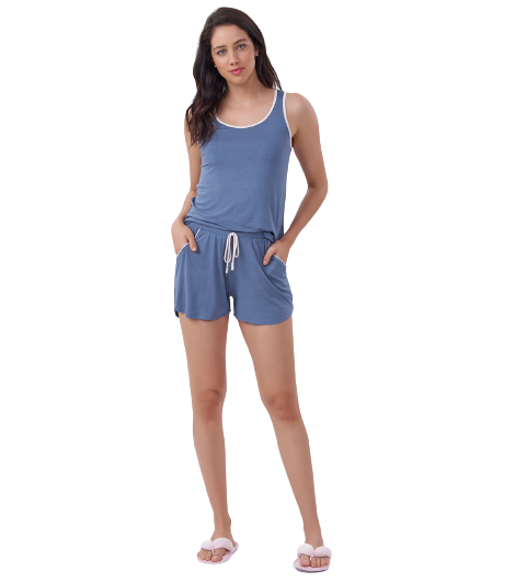Pijama Short Doll Azul