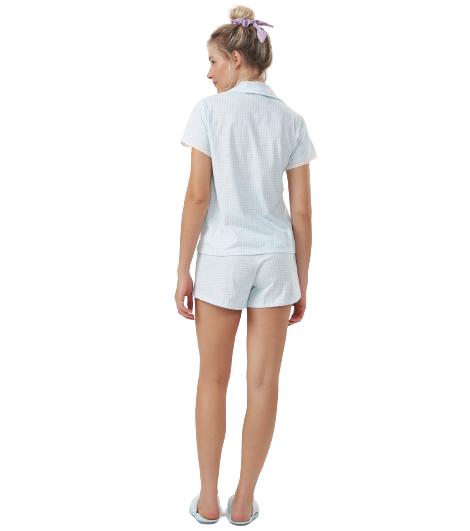 Pijama Short Doll c/ Abertura Céu Azul