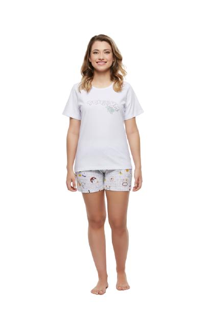 Pijama Short Doll Camisete 100% Algodão Sonhart