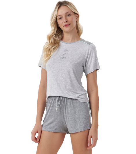 Pijama Short Doll Cinza