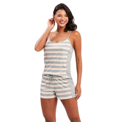 Pijama Feminino Short Doll Listrado Recco
