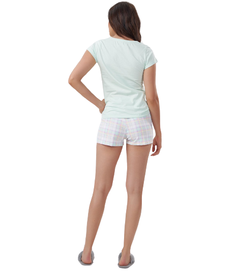 Pijama Feminino Short Doll Verde Menta