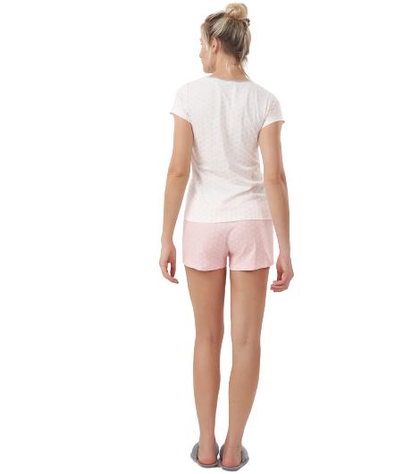 Pijama Short Doll Corações