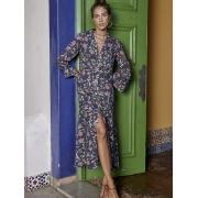 Vestido Linho Botões Formentera