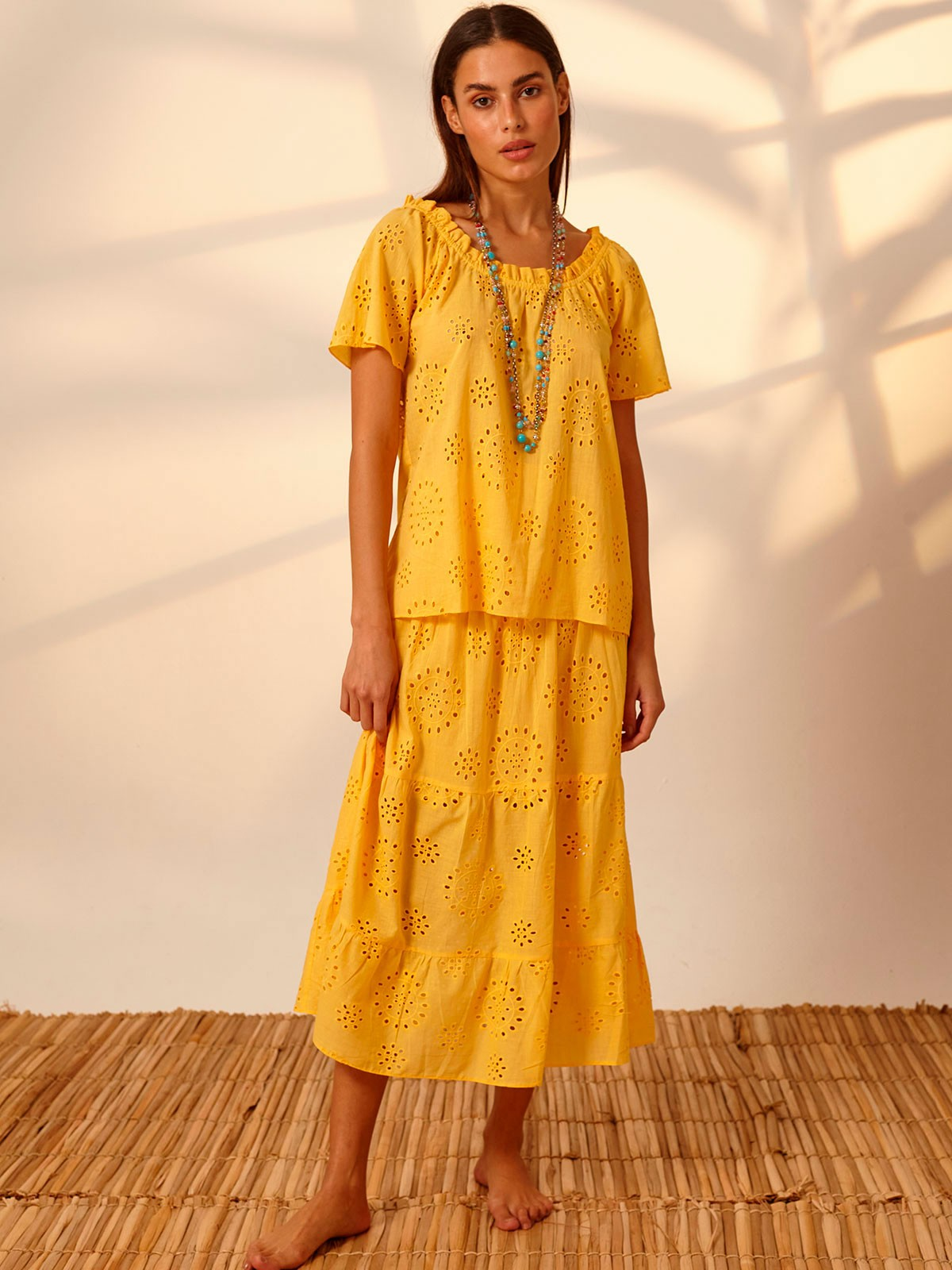 Blusa Ciganinha Laise Amarelo