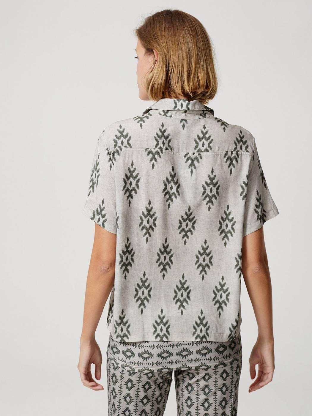 Camisa Botões Manga Curta Egito