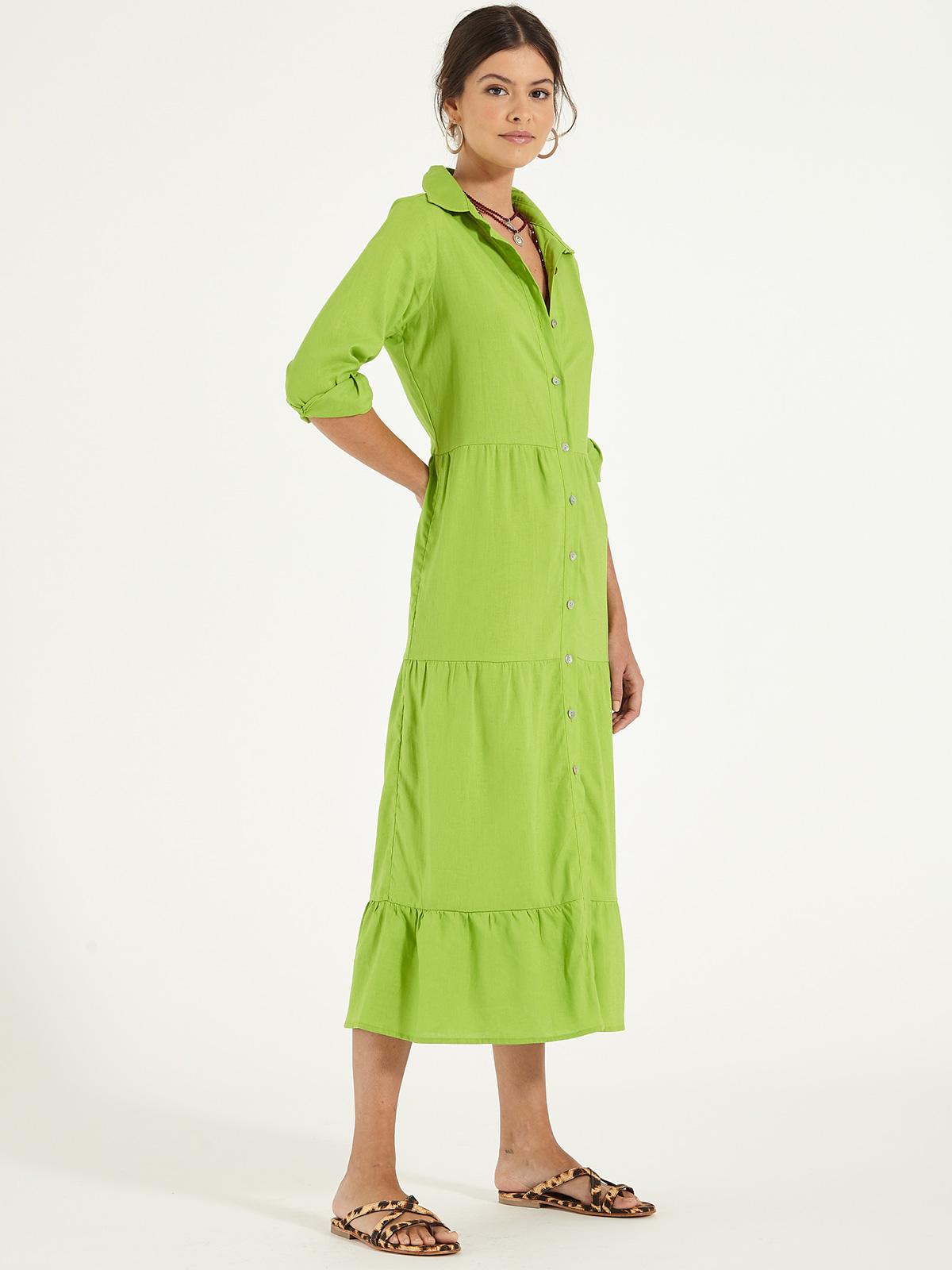 Vestido 3 Babados Verde