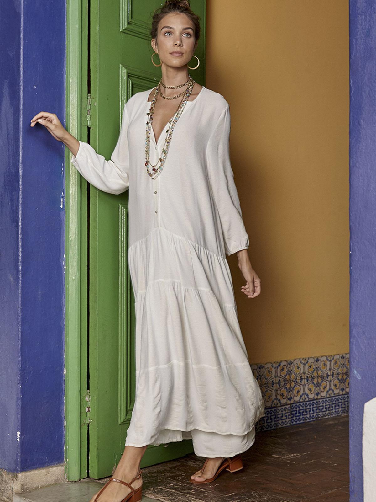 Vestido Amplo Off White