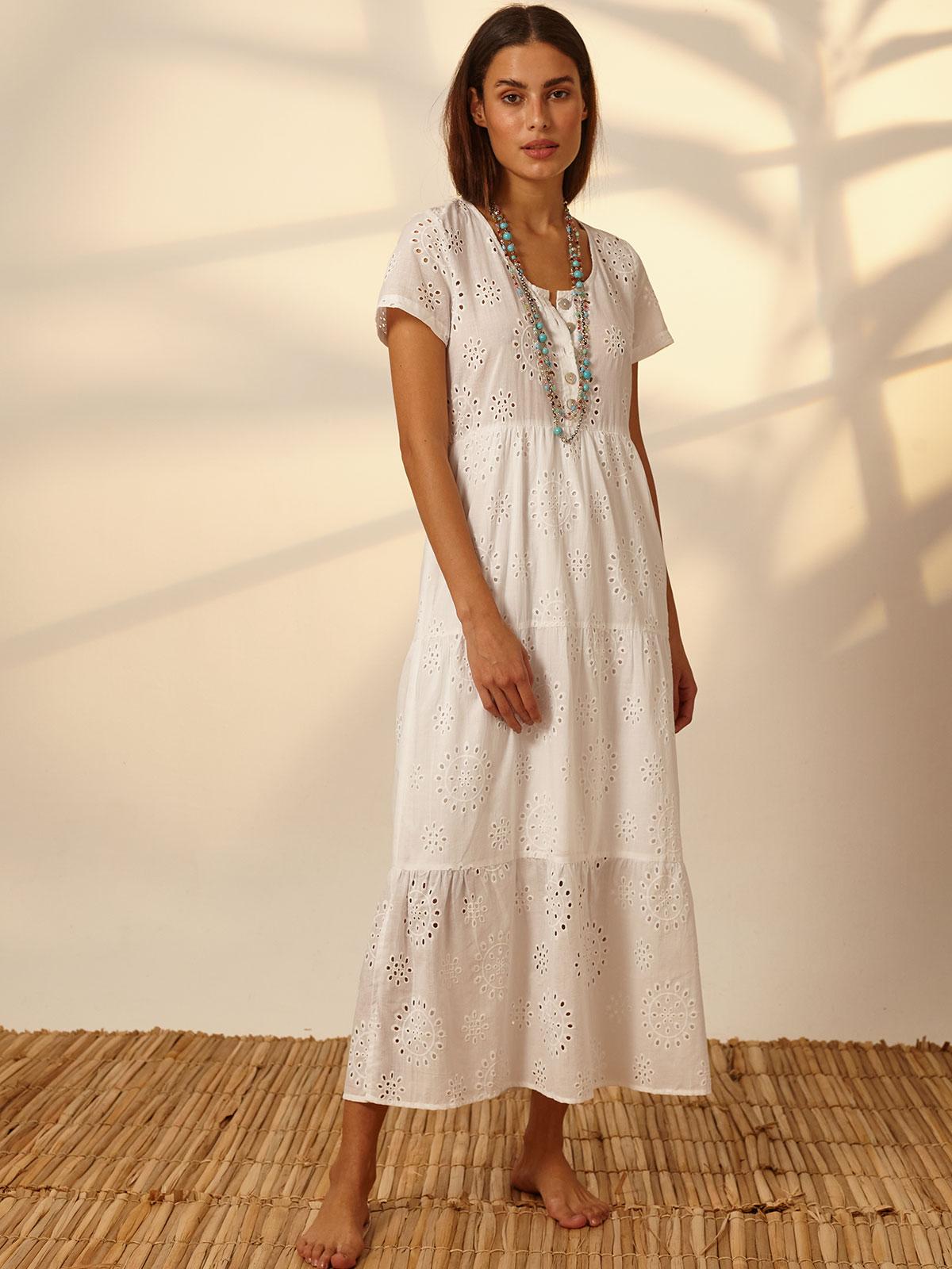 Vestido Laise Babado Branco