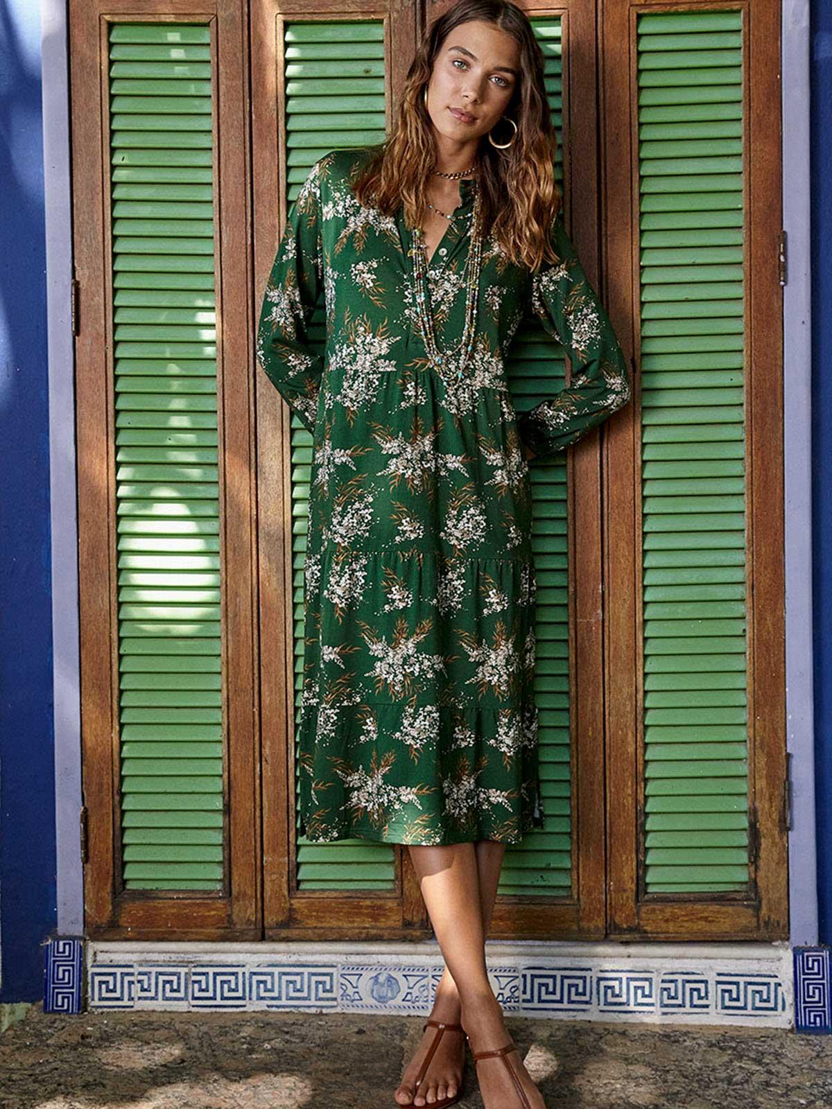 Vestido Malha Babado Sevilha