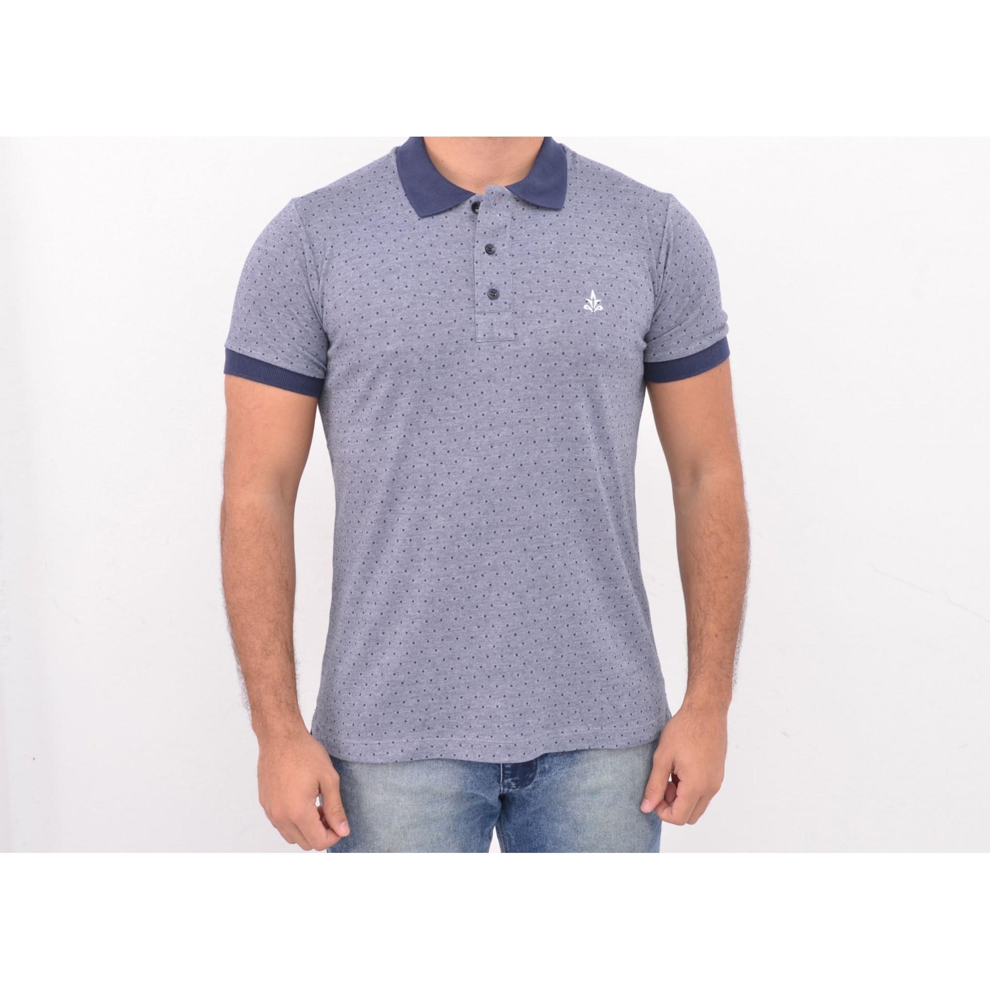 Camisa Barrocco Pólo Point's Azul - FRETE GRÁTIS