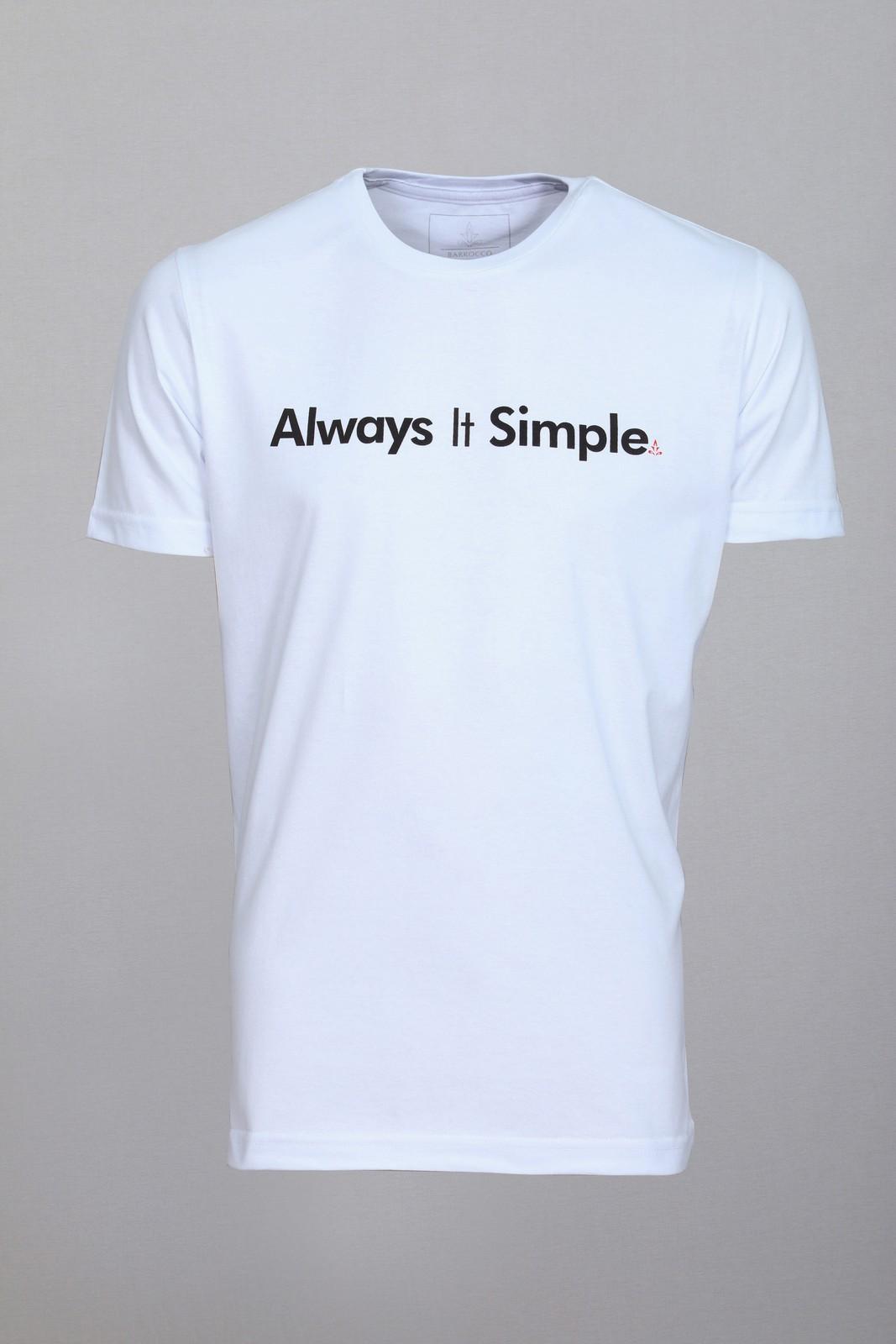 Camiseta Barrocco Always It Simple - FRETE GRÁTIS