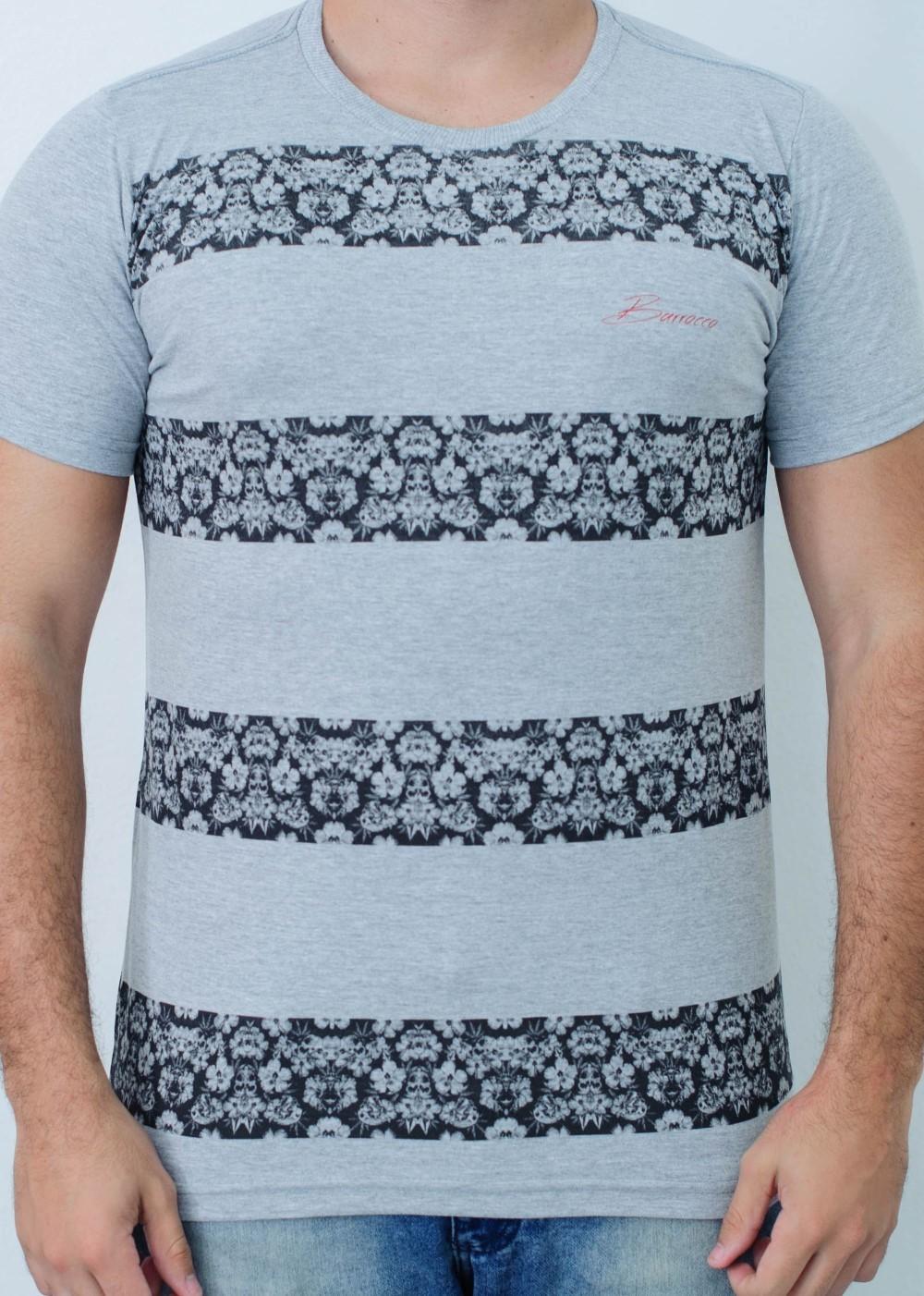 Camiseta Barrocco Band Mescla Claro - FRETE GRÁTIS