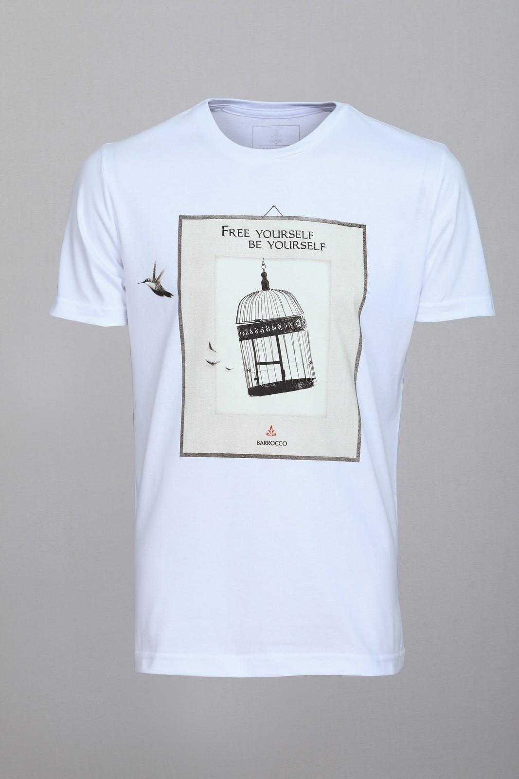 Camiseta Barrocco Free Yourself - FRETE GRÁTIS