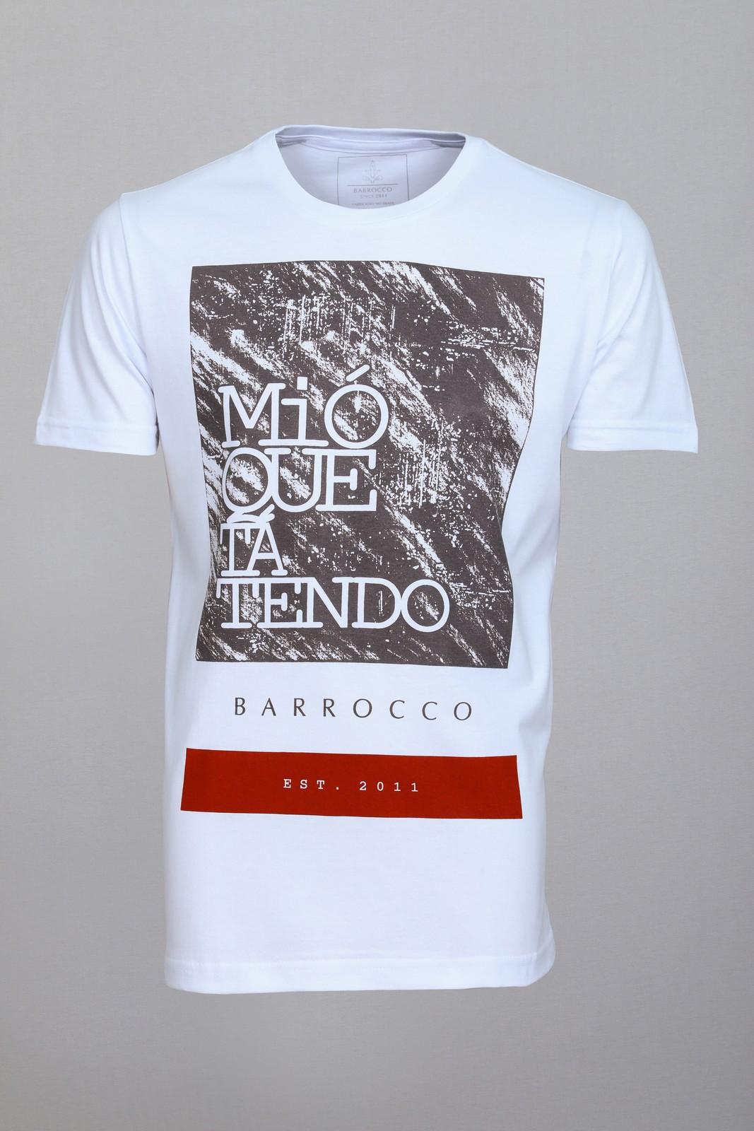 Camiseta Barrocco Mió Que Tá Tendo - FRETE GRÁTIS