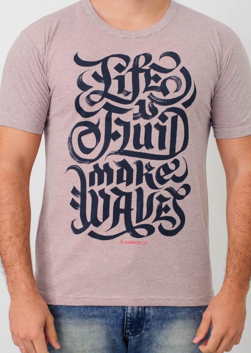 Camiseta Barrocco Viva na Onda