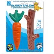 Kit Cenoura e Graveto - Mordedor Nylon - Buddy Toys