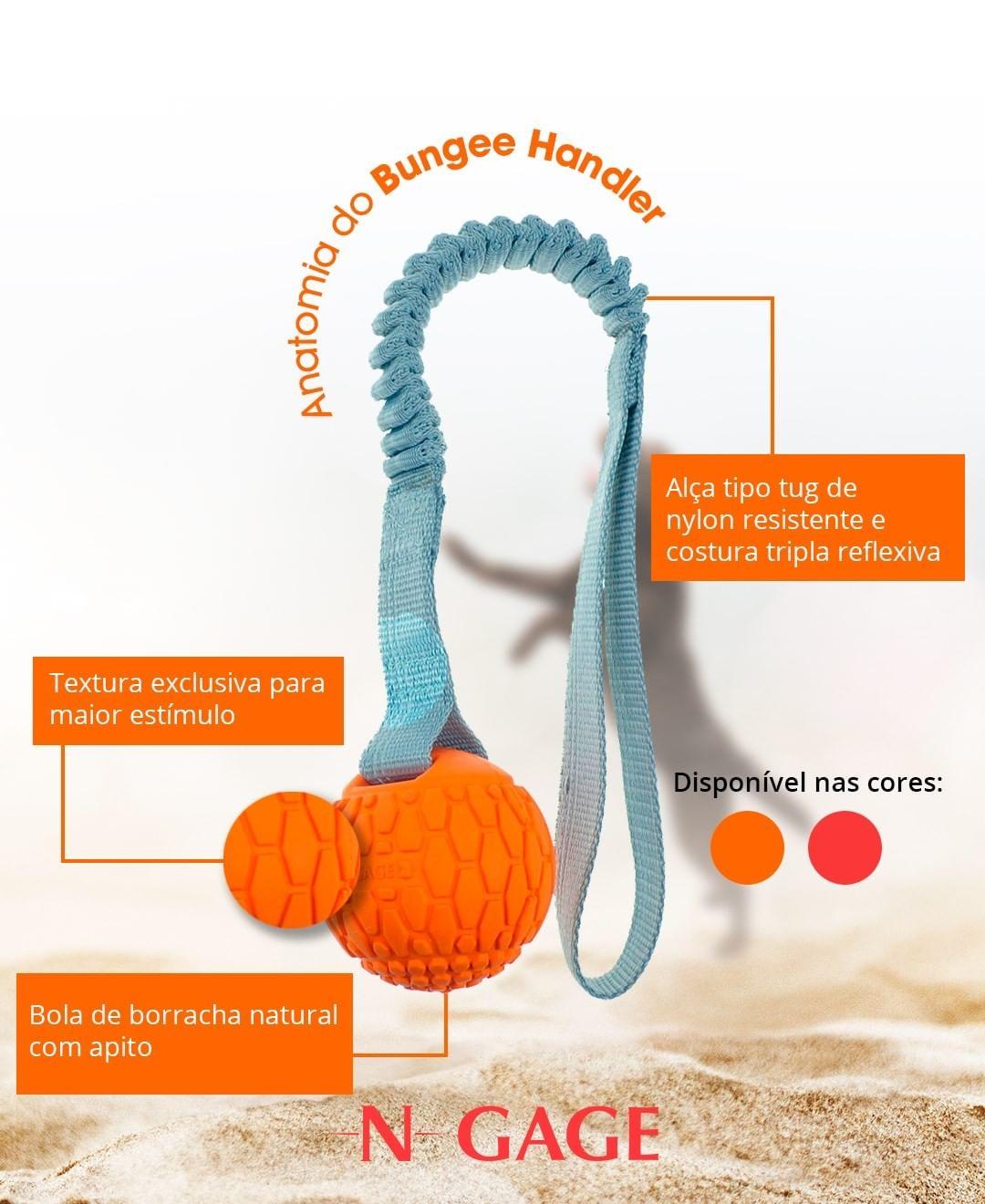 Bungee Handler - Brinquedo bolinha com alça/cabo de guerra/mordedor - N-Gage