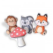 Kit de Almofadas Animais da Floresta