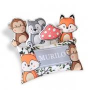 Kit de Almofadas Animais da Floresta com Nome