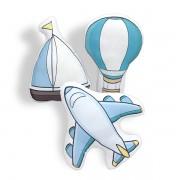 Kit de Almofadas Avião, Barco e Balão
