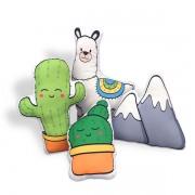 Kit de Almofadas Lhama e Montanha