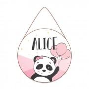 Plaquinha Porta Maternidade - Panda