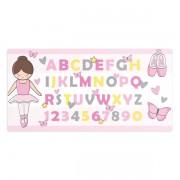 Tapete Bailarina - Letras e Números