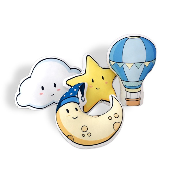 Kit de Almofadas Balão e Nuvem