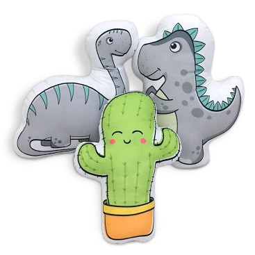 Kit de Almofadas Dinossauros com Cacto