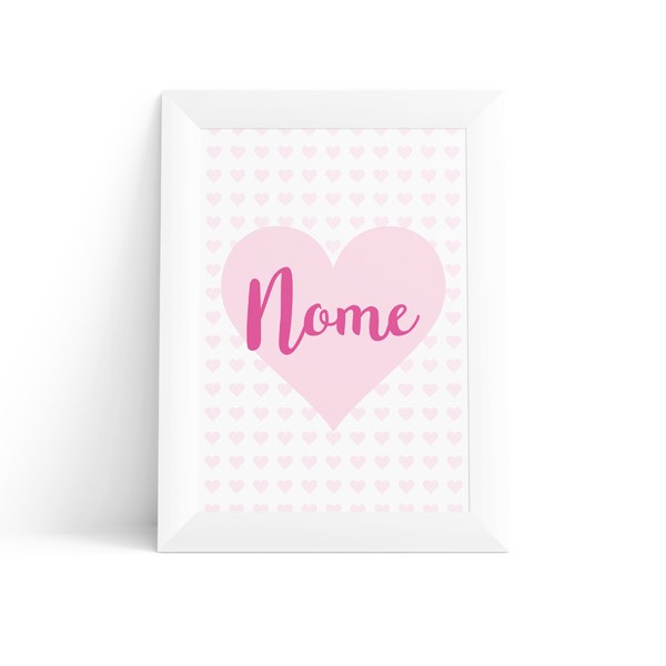Quadro Coração com Nome Feminino