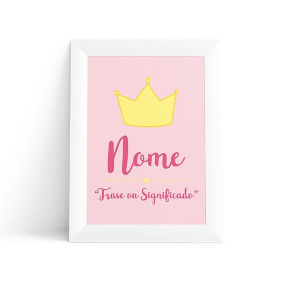 Quadro Coroa com Nome Feminino