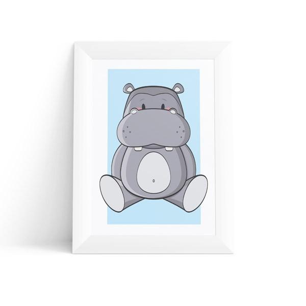 Quadro Hipopótamo Baby