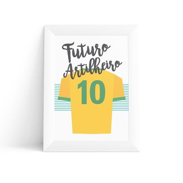 Quadro Infantil Camisa Futebol