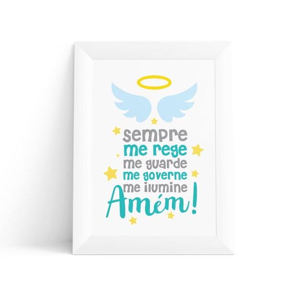 Quadro Infantil Oração do Anjo Masculino