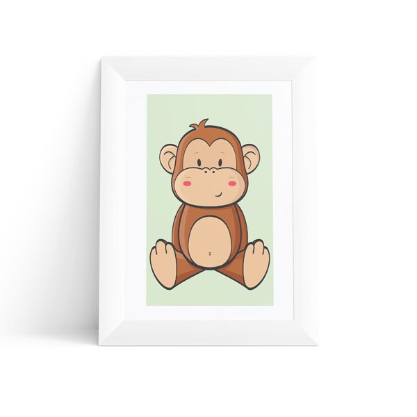 Quadro Macaco Baby