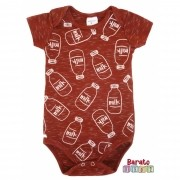 Body Bebê com Estampa Milk - Bordô Botonê
