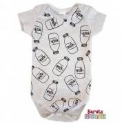 Body Bebê com Estampa Milk - Mescla Banana