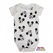 Body Bebê com Estampa Mouse-Full - Off White
