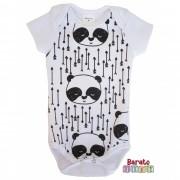 Body Bebê com Estampa Panda-Full - Branco