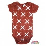Body Bebê com Estampa X-Full - Bordô