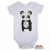 Body Bebê - Estampa de Panda - Branco Bononê